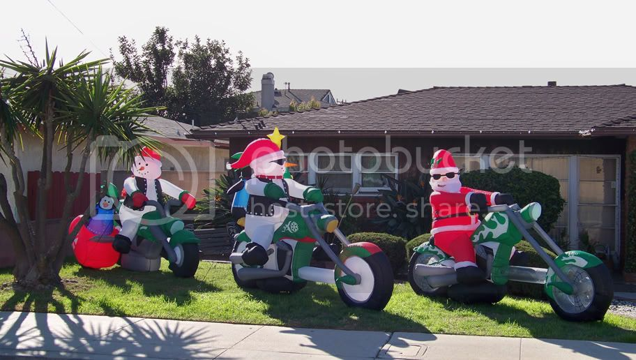 Inflatable Biker Christmas Pictures, Images and Photos